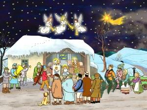 Josef Lada - Vánoční obrázek