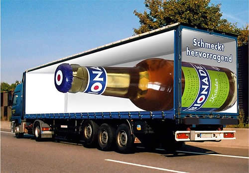 creative advertisements beer truck