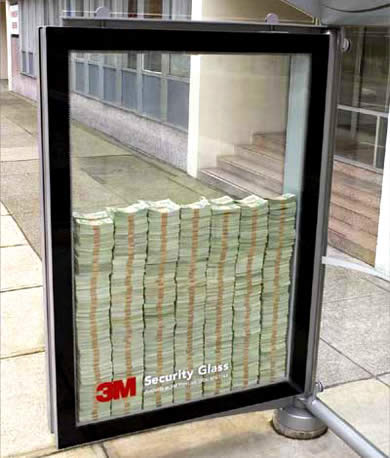creative advertisements money security